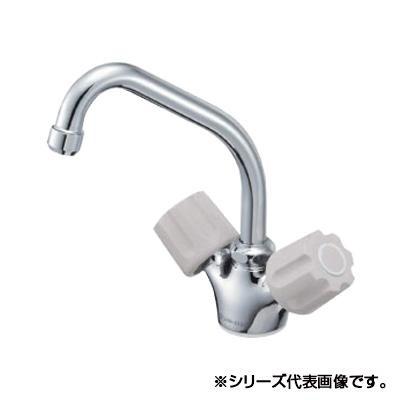 【クーポンあり】【送料無料】三栄 SANEI ツーバルブワンホール混合栓 K811V-LH-13
