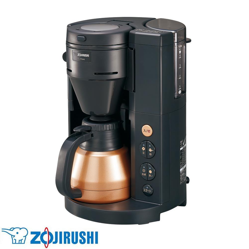 【クーポンあり】【送料無料】象印 コーヒーメーカー 珈琲通(R) BA(ブラック) EC-RS40-BA 手軽にカフェの味わい。
