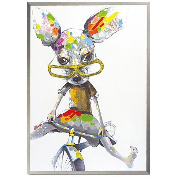 【クーポンあり】【送料無料】ユーパワー オイル ペイント アート「ストレンジ チワワ2」 OP-28001 1枚ずつ丁寧に手描きした、オイルペイントモダンアート☆