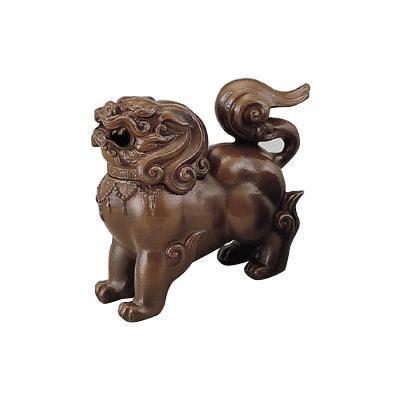【クーポンあり】【送料無料】高岡銅器 獅子香炉 小 茶 163-01 インテリアとして飾れる香炉。