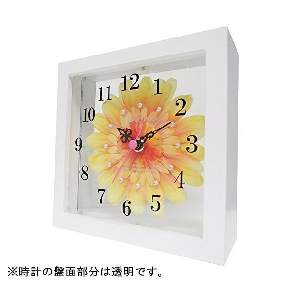【クーポンあり】アートフラワー 置き時計 YE STW-1189 高級感と気品のある時計