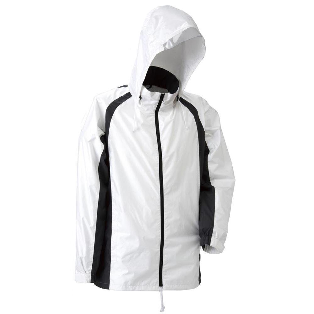 【クーポンあり】【送料無料】スミクラ 透湿 ストリートシャワージャケット J-626ホワイト LL 東レの透湿素材を使用したレインジャケットです。