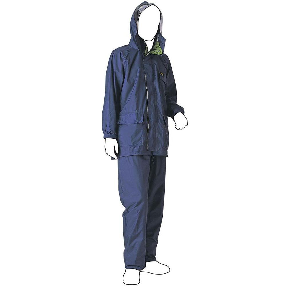 【クーポンあり】【送料無料】スミクラ 透湿 MOAシータレインスーツ A-660ネイビー M 軽くて柔らかな風合いをもった、動きやすいレインスーツ。