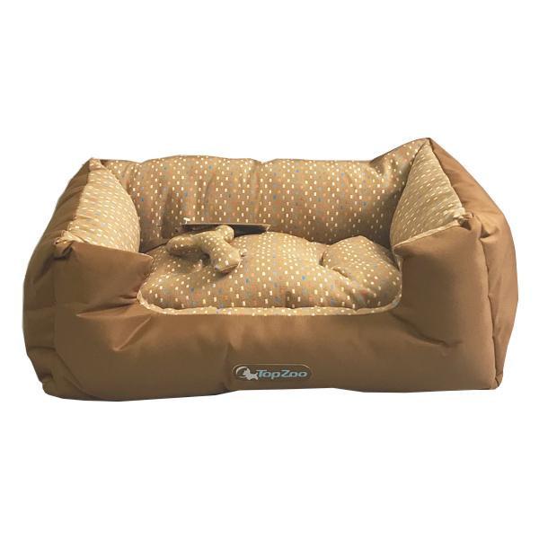 【クーポンあり】【送料無料】TopZoo トップズー ドゥドゥコージ チョコ S リバーシブルタイプのペットベッド。