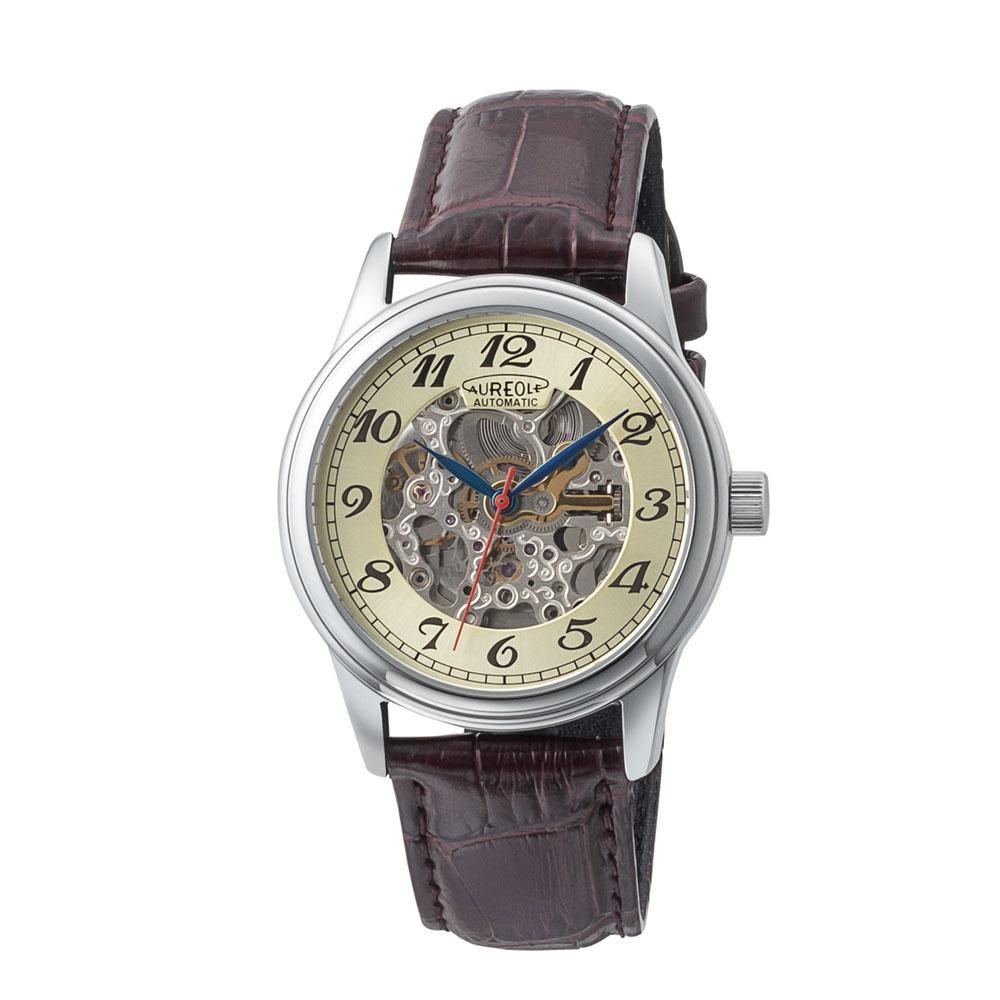 【送料無料】AUREOLE(オレオール) オートマチック メンズ 腕時計 SW-614M-02