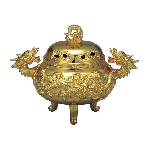 【クーポンあり】【送料無料】高岡銅器 龍神香炉 160-09