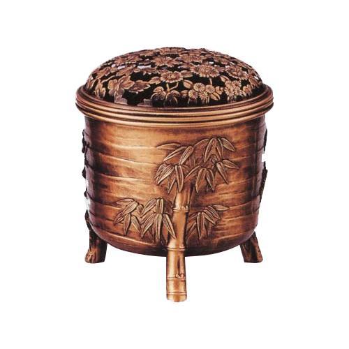 【クーポンあり】【送料無料】高岡銅器 松竹梅香炉 古銅色 161-03