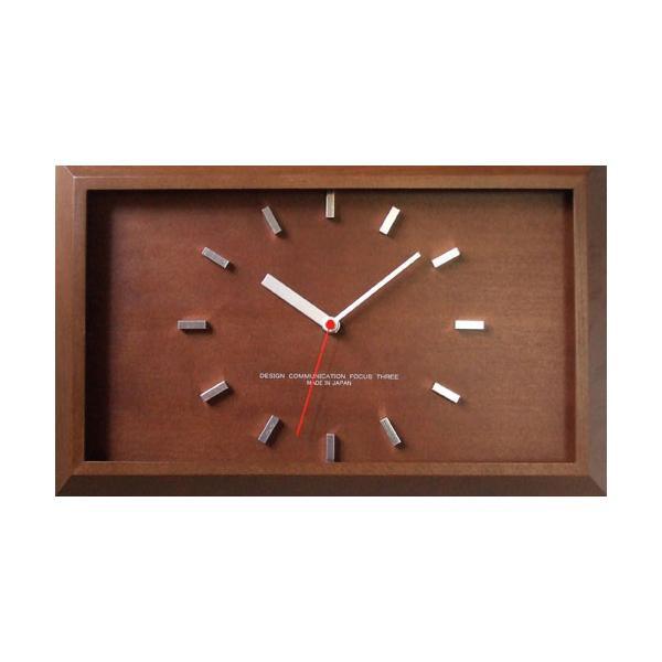 【クーポンあり】【送料無料】黄金比の時計 電波時計 ブラウン V-0046 おしゃれな木製の壁掛け時計。