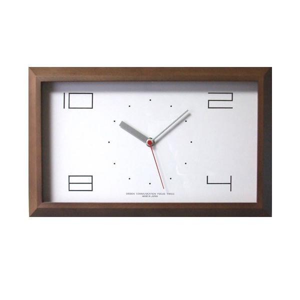 【クーポンあり】【送料無料】黄金比の時計 電波時計 ブラウン V-0001 おしゃれな木製の壁掛け時計。