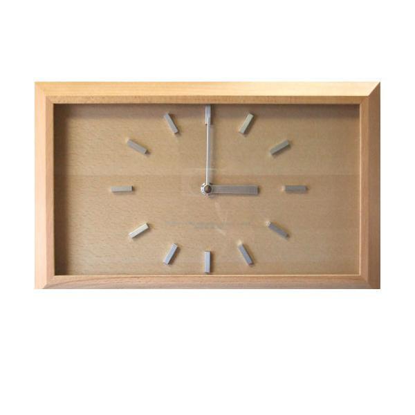 【クーポンあり】【送料無料】黄金比の時計 スイープ ナチュラル V-0006 おしゃれな木製の壁掛け時計。