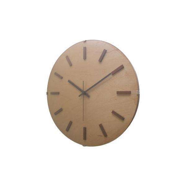 【クーポンあり】【送料無料】ドームバークロック 電波時計 ナチュラル V-065 ビッグサイズのドームガラスとウッドの時刻表示が特徴。