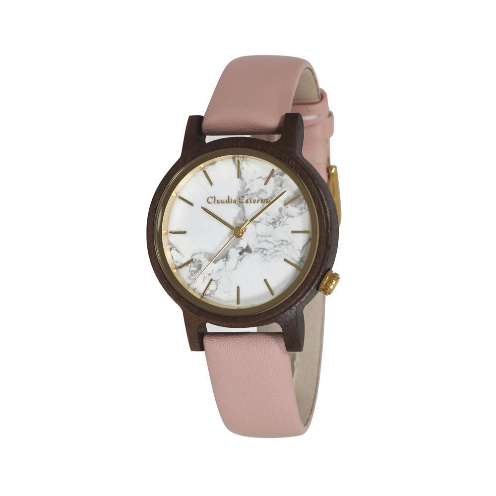 【クーポンあり】【送料無料】腕時計 クラウディア・カテリーニ ピンク CC-A120-LPW 素材を活かしたファッショナブルで都会的なデザインです。
