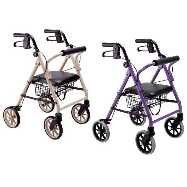 【クーポンあり】【送料無料】竹虎 歩行車ハッピーミニ 狭い路地や室内でも扱いやすいコンパクトモデルです。