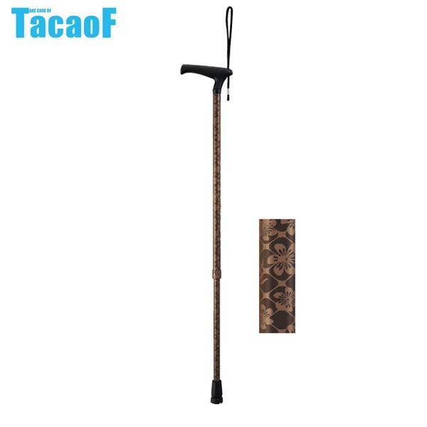 【クーポンあり】【送料無料】幸和製作所 テイコブ(TacaoF) LaTata(ラタタ)-L 伸縮杖 EAU01 すみれ 指が痛くなりにくいL字タイプのグリップ。