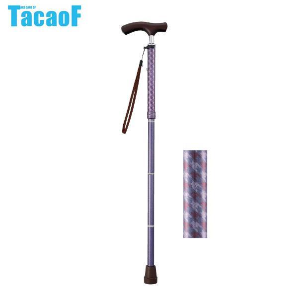 【クーポンあり】【送料無料】幸和製作所 テイコブ(TacaoF) 折りたたみ式伸縮ステッキ(首細)BOLD EON16 チドリクラシックレッド