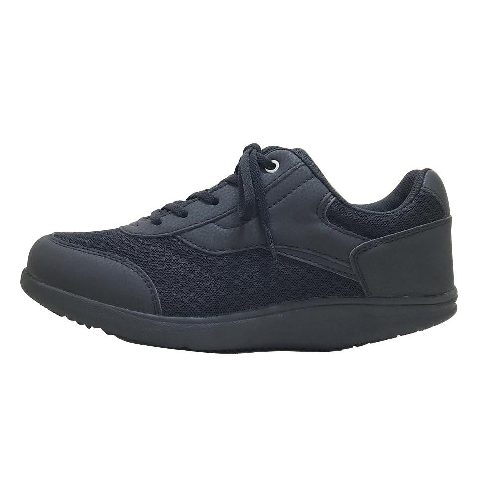 【クーポンあり】【送料無料】ROSIO ロシオ かかとのない健康シューズ MS メンズ ブラック 26.0cm 靴 シンプル ウォーキング 運動 トレーニング 筋力 スニーカー 黒 防臭 サイドファスナー 男性 抗菌