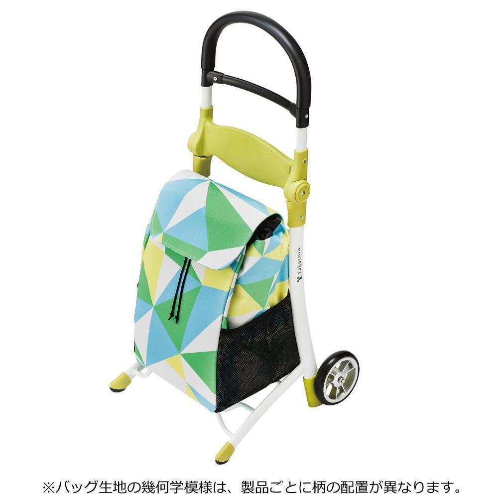 【クーポンあり】【送料無料】竹虎 スマイルキャリー グリーン 118000 座れるショッピングカート。