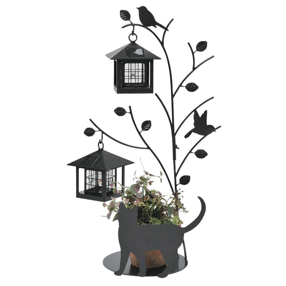 【送料無料】セトクラフト シルエットソーラー(Tree&Cat)2灯 SI-1956-1300 庭 ライト デザイン おしゃれ アクセント かわいい 玄関 インテリア