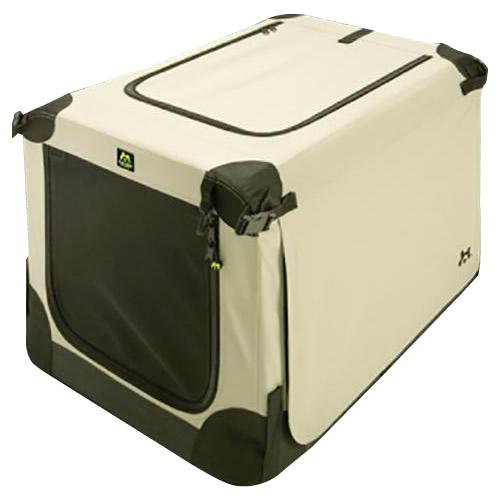 【クーポンあり】【送料無料】ペット用ポータブルケージ ソフトケンネル ベージュ サイズ105 畳んで持ち運べる、ワンちゃん用のポータブルハウス♪