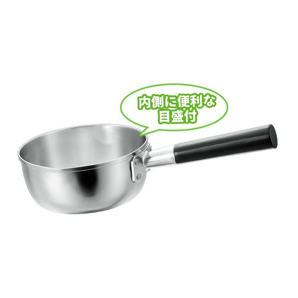日本製 プロ仕様 三層鋼 行平鍋 16cm オール熱源対応 H-2902/素材の良さを生かした、プロ仕様の三層鋼行平鍋。