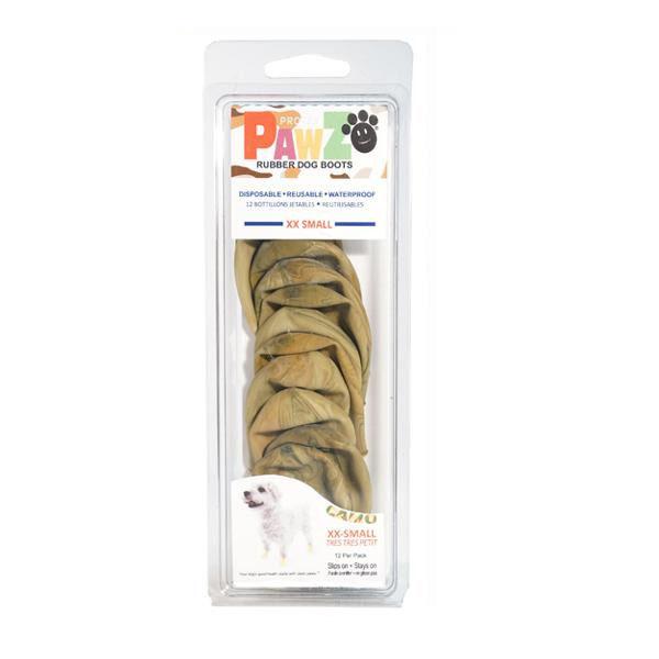 【クーポンあり】正規輸入品 Pawz Dog Boots社製 ポウズ ラバードッグブーツ カムフラージュ XXS PZCMXX 抜群のフィット感!!防水ラバードッグブーツ☆