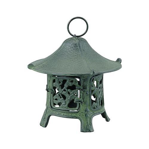 【クーポンあり】【送料無料】高岡銅器 吊燈篭 松竹梅 172-05
