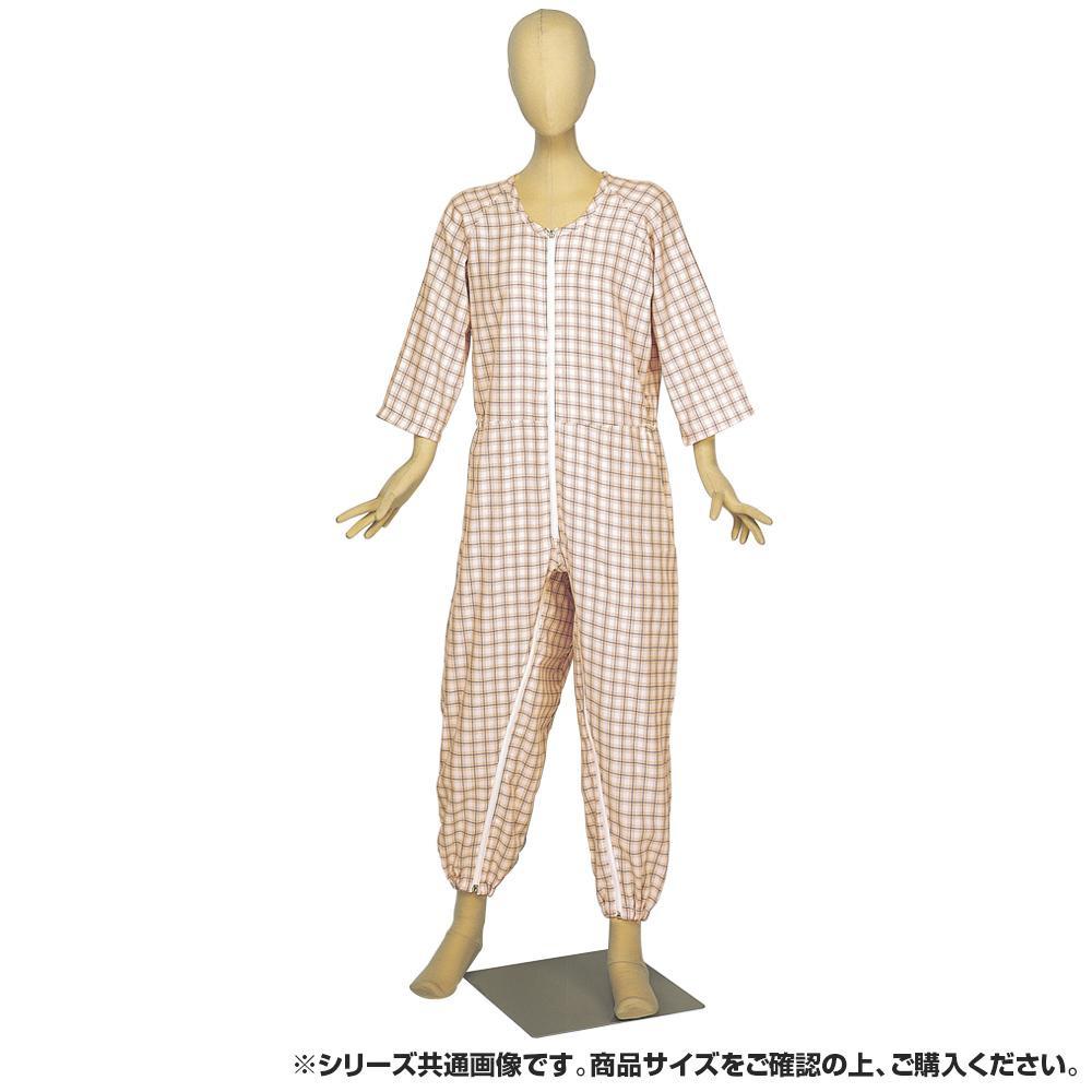 【クーポンあり】【送料無料】らくらく介護ねまき前股フック ピンク Mサイズ 4200 シンプルで清潔感のあるデザイン