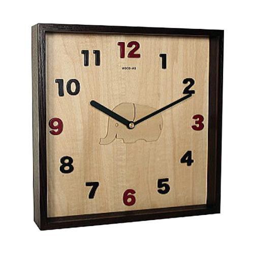 【クーポンあり】【送料無料】MOCO-MO 掛け時計 ゾウ MM027-HN あたたかみのあるデザインの掛け時計♪