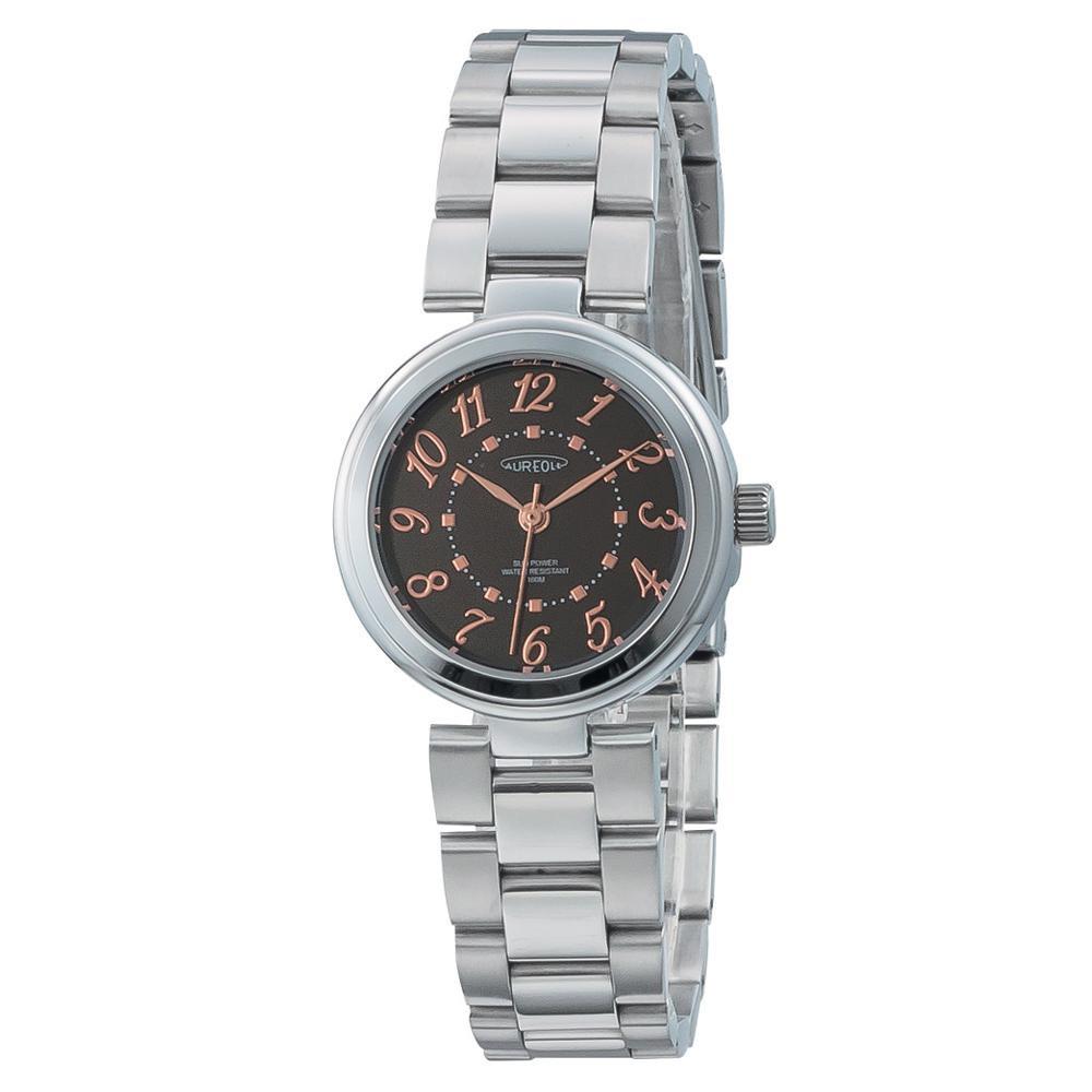 【送料無料】AUREOLE(オレオール) ソーラー レディース 腕時計 SW-596L-01