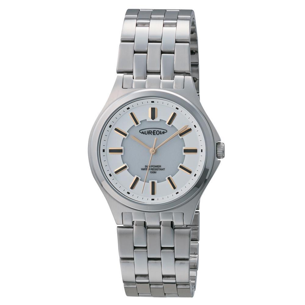 【クーポンあり】【送料無料】AUREOLE(オレオール) ソーラー メンズ 腕時計 SW-593M-04