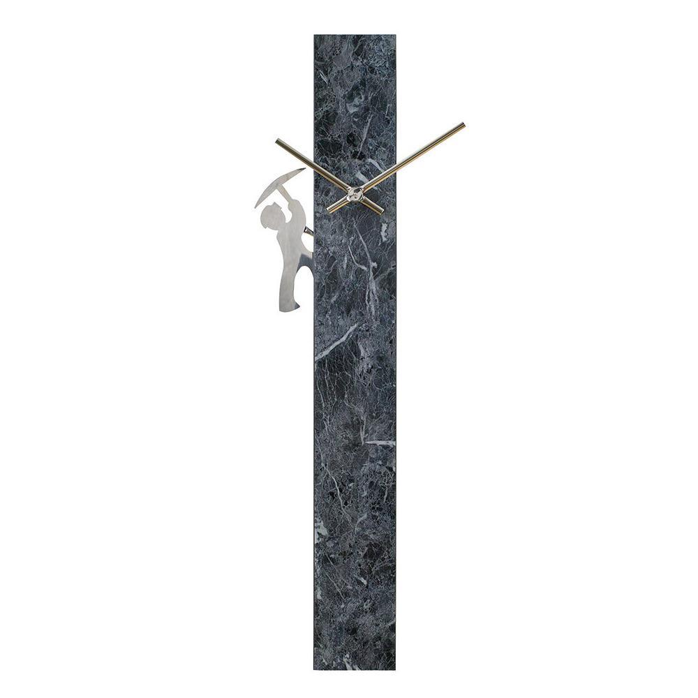【クーポンあり】【送料無料】EDGE 振り子壁掛け時計 PILLAR マーブルグレー TELR1860GY 個性的に自分らしいトキを過ごす。