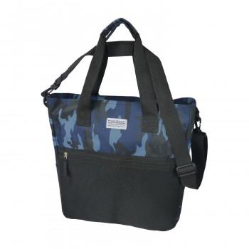 国内在庫 シンプルなデザインのトートバッグ クーポンあり BODY WOLF ブルー迷彩 4年保証 トートバッグ BW-5 15L