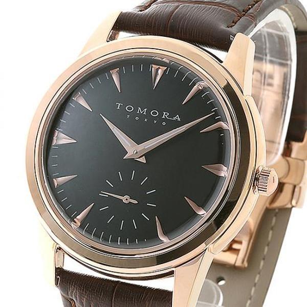 【クーポンあり】【送料無料】TOMORA TOKYO(トモラ トウキョウ) 腕時計 T-1602-PGBK シンプルなデザインの腕時計。