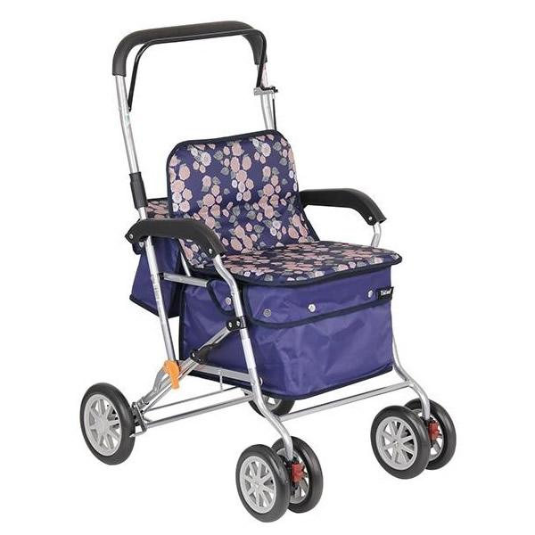 【クーポンあり】【送料無料】幸和製作所 テイコブ(TacaoF) シルバーカー(スタンダードタイプ) ボクスト SIST02-NV・ネイビー 高齢者 軽量 押し車 老人用 手押し車 おしゃれ 折りたたみ 椅子付き