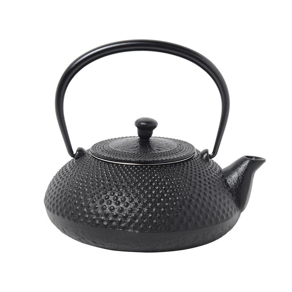 【送料無料】南部鉄器 宝生堂 小鉄瓶 アラレ 0.5L 黒 700109B 南部鉄器の鉄瓶でまろやかなお茶を!