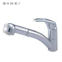 【クーポンあり】【送料無料】三栄水栓 SANEI シングルワンホールスプレー混合栓 寒冷地用 K8760JK-C-13C