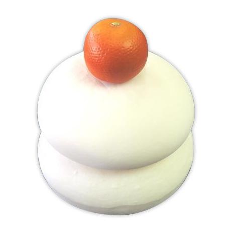 【クーポンあり】【送料無料】日本職人が作る 食品サンプル 鏡餅 2升 IP-175 エコに毎年飾れる鏡餅!