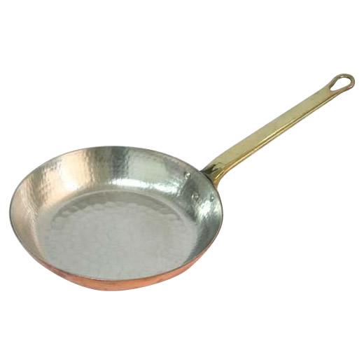【クーポンあり】【送料無料】中村銅器製作所 銅製 フライパン 24cm 高い熱伝導率を誇る、プロ御用達の銅製フライパン。