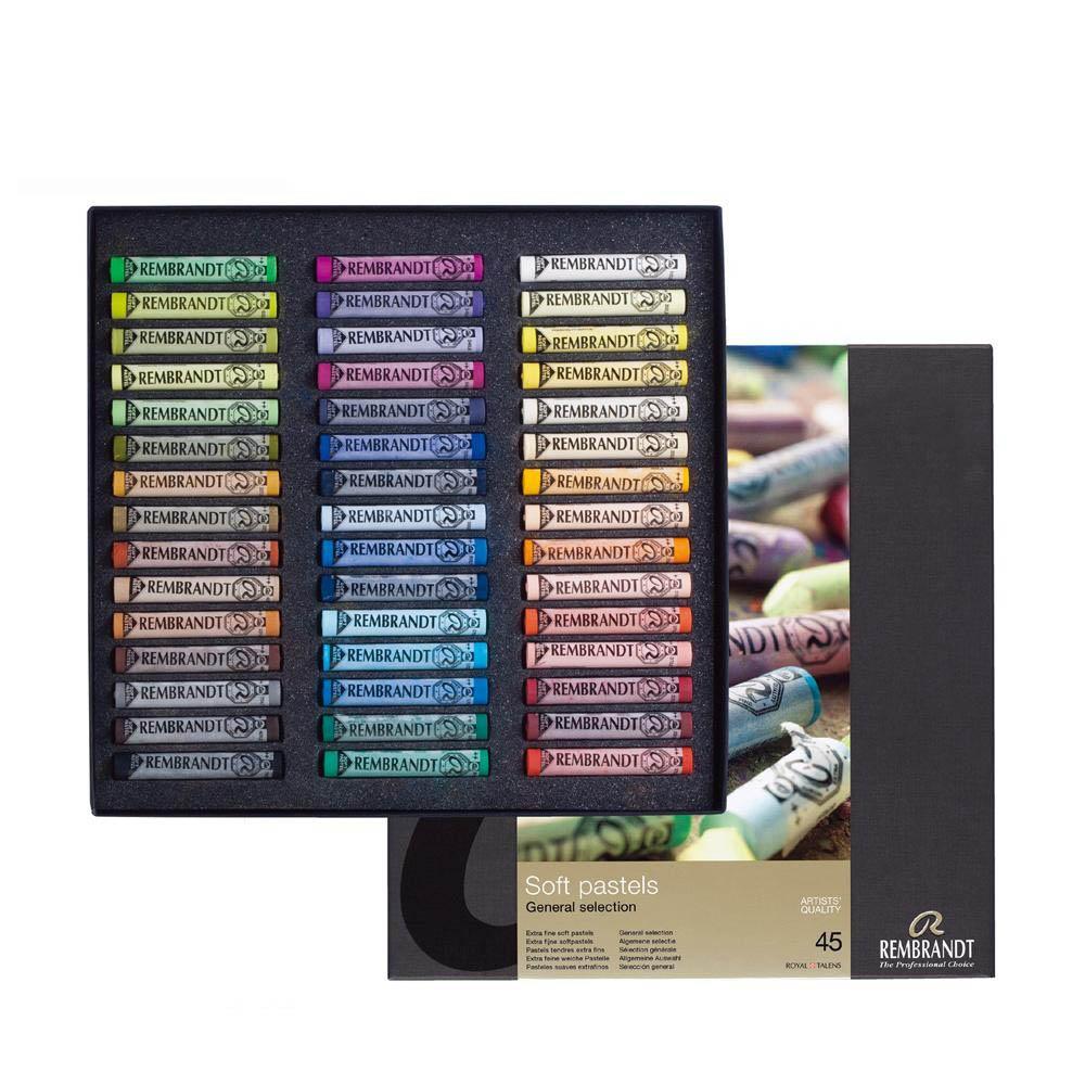 【クーポンあり】【送料無料】REMBRANDT レンブラント ソフトパステル 45色セット T300C45 ロイヤルターレンス社が誇る「レンブラントソフトパステル」