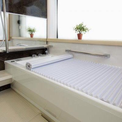 【クーポンあり】【送料無料】イージーウェーブ風呂フタ 85×160cm用 お風呂 浴室 コンパクト サイズ 巻き戻り 白 浴槽 洗いやすい 蓋