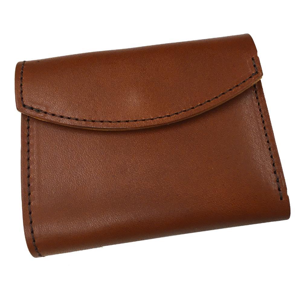 【クーポンあり】【送料無料】栃木レザー フラップミニウォレット DBRN(02) TO285QG 天然皮革製のおしゃれなミニ財布