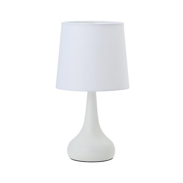 LEDタッチセンサーテーブルランプ 3段調光付 ホワイト 20919 シンプルなデザインのテーブルランプ