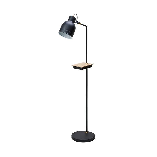 【クーポンあり】【送料無料】LEDフロアタッチセンサーライト ワイヤレス充電機能付 BK 20938