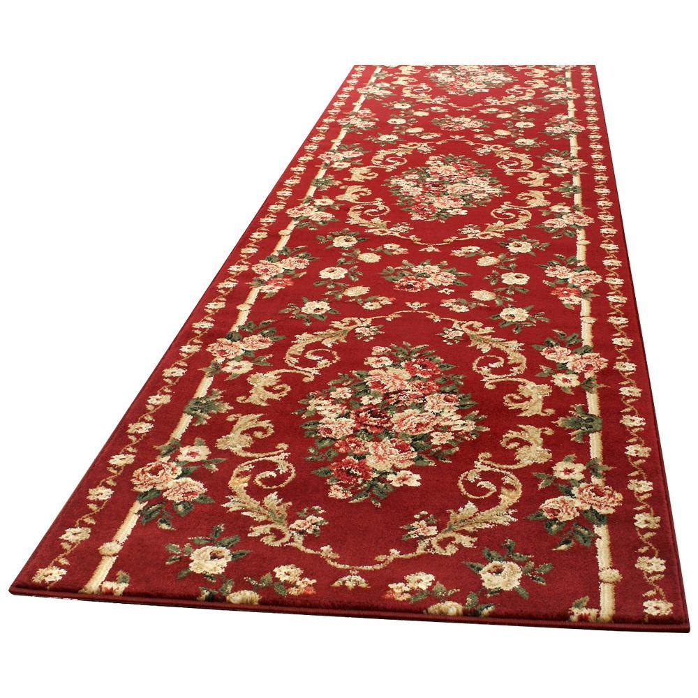 【送料無料】ウィルトン廊下敷き ロゼ 約66×440cm RE 270043441 高級感ある柄で床面を華やかに彩ります。