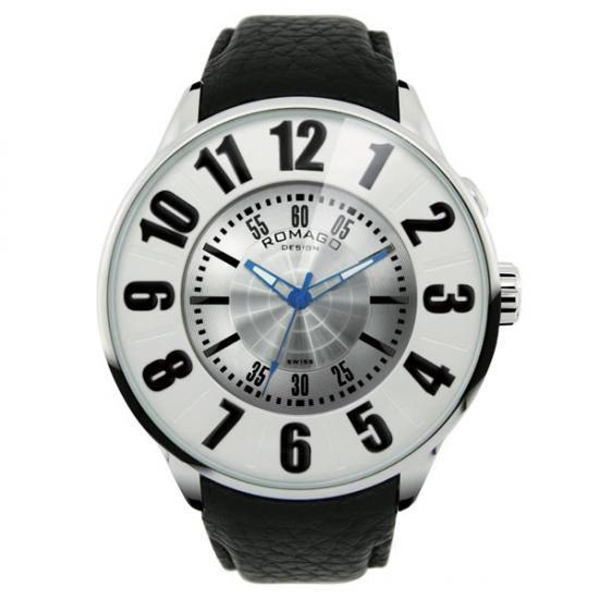 【クーポンあり】【送料無料】ROMAGO DESIGN (ロマゴデザイン) Numeration series ヌメレーションシリーズ 腕時計 RM007-0053ST-SV 腕を傾けると現れる文字盤。