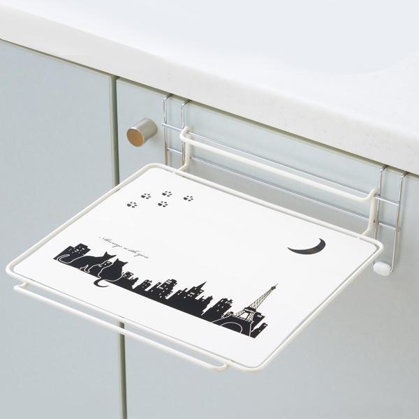 【ポイント10倍】【クーポンあり】クロネコキッチン シンク扉簡易テーブル 1305506 作業スペースが必要な時だけ登場する簡易テーブル。