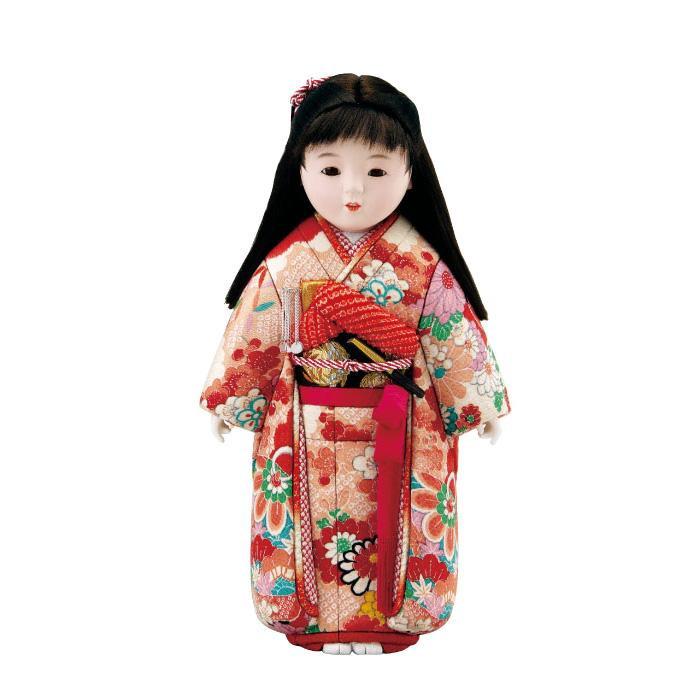 【送料無料】01-580 舞ちゃん セット かわいらしい女の子の木目込み人形。