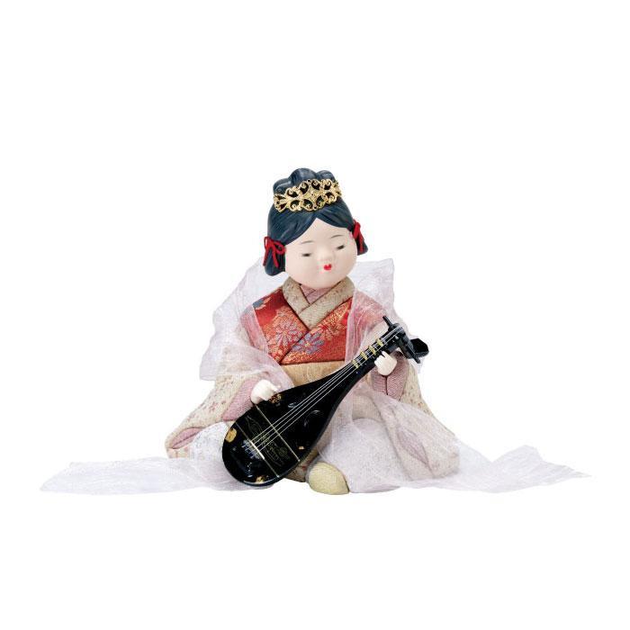 【送料無料】01-722 弁財天 完成品 縁起が良い弁天様の人形!