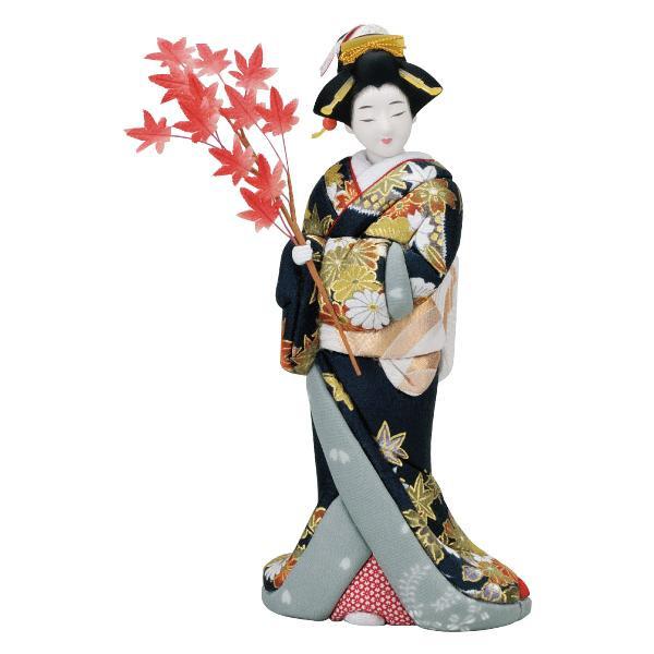 【クーポンあり】【送料無料】01-668 夕映え 完成品 美しいお顔の木目込み人形。