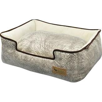 【ポイント最大4倍】【クーポンあり】ラグジュアリーベッド「P.L.A.Y」 ペット用ベッド ラウンジベッド(BOX型) Mサイズ サバンナ グレー あご乗せも出来る、ペット用箱型ベッド。